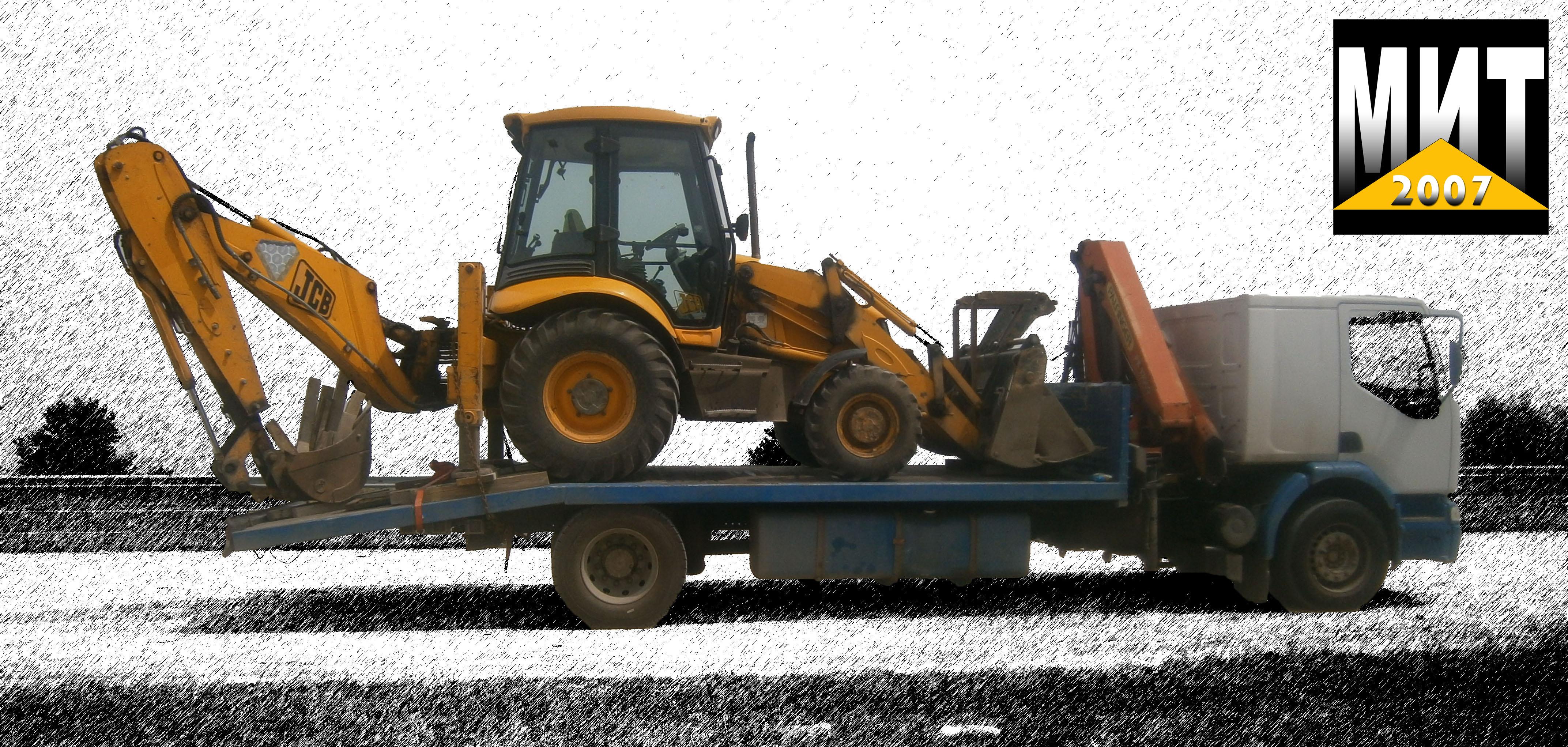 мощна сканиа с платформа за трактори